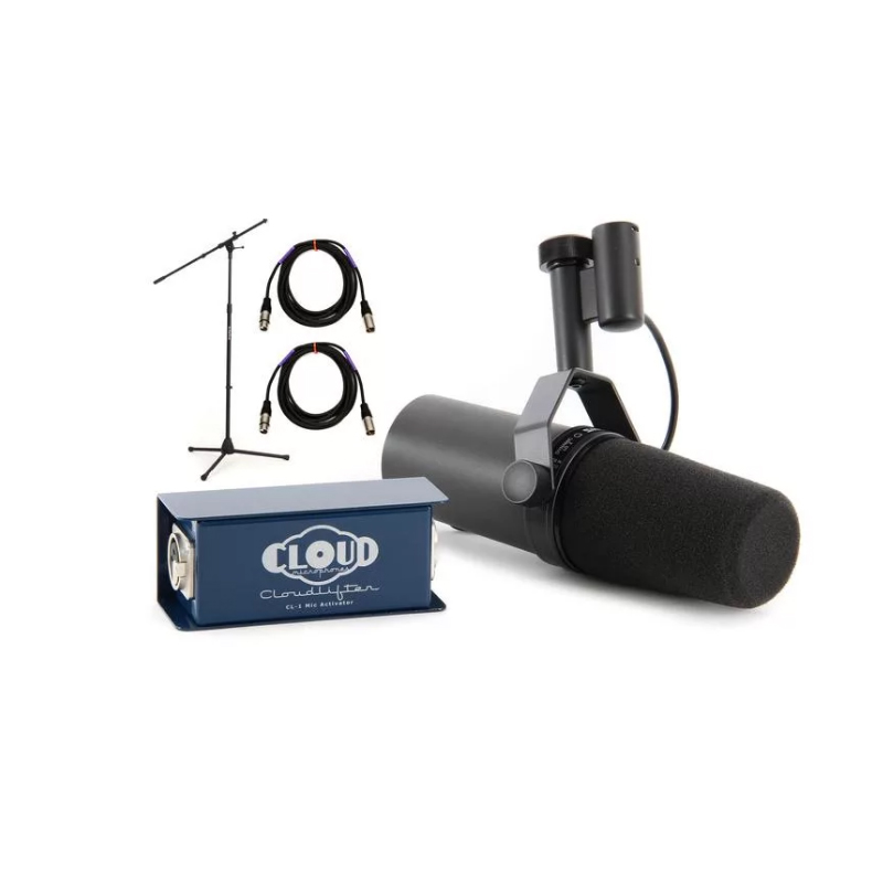 Cloud Microphones Cloudlifter CL-1 Mic Activator Extra Two 2 XLR Cables Bundle